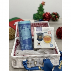 Christmas Gift Set A1 (Ronnefeldt Tea Couture + Finum Hot Glass)